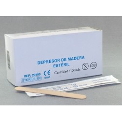 DEPRESOR MADERA ESTERIL (envasado individual) C/100 UDS.