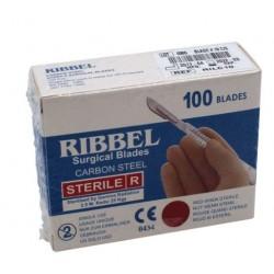 HOJA DE BISTURI Nº 15  RIBBEL ( RILC15 ) C/100 UDS